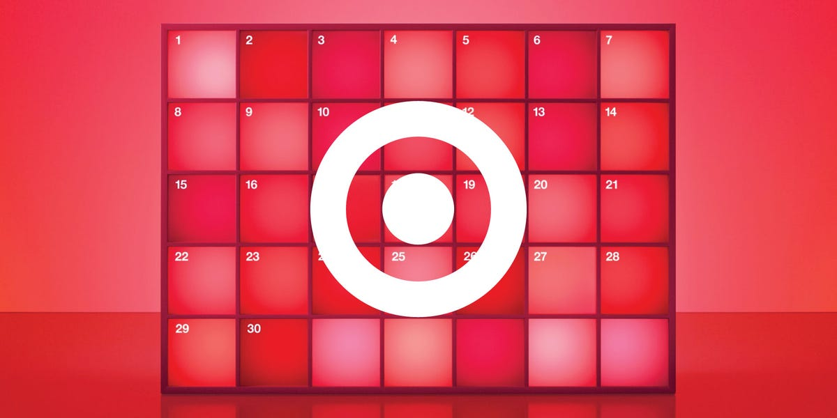 The Target logo on a red calendar.