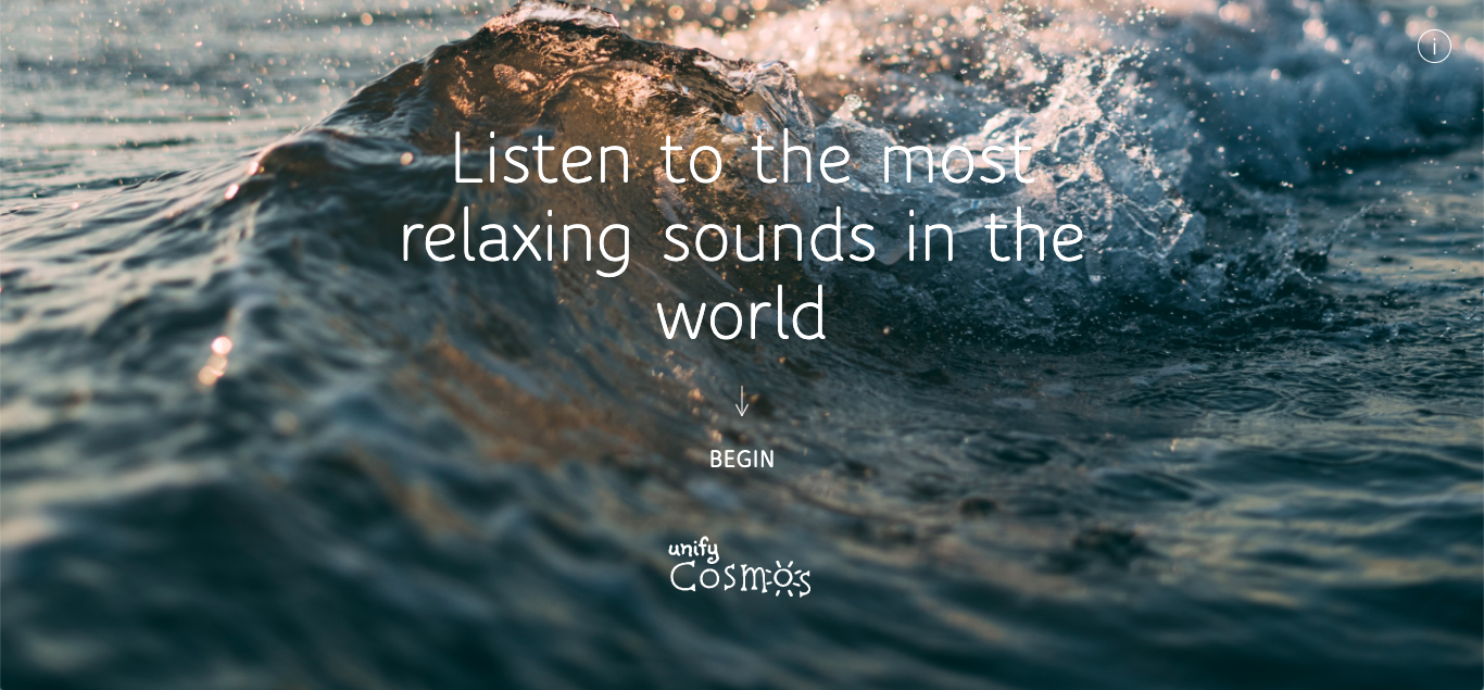 Unify Cosmos provides ambient sounds to those looking to relax.