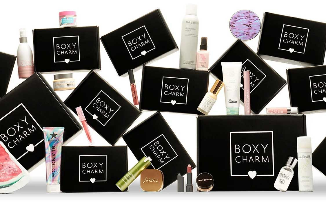 The variety of items you get in a BoxyCharm box.