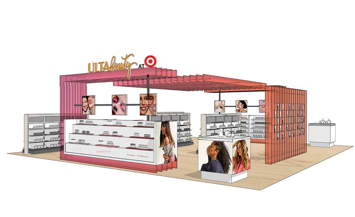 A drawing displays what potential Ulta sections in Target will look like.