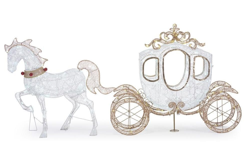 Home Depot is selling a light-up horse drawn carriage for the holidays.