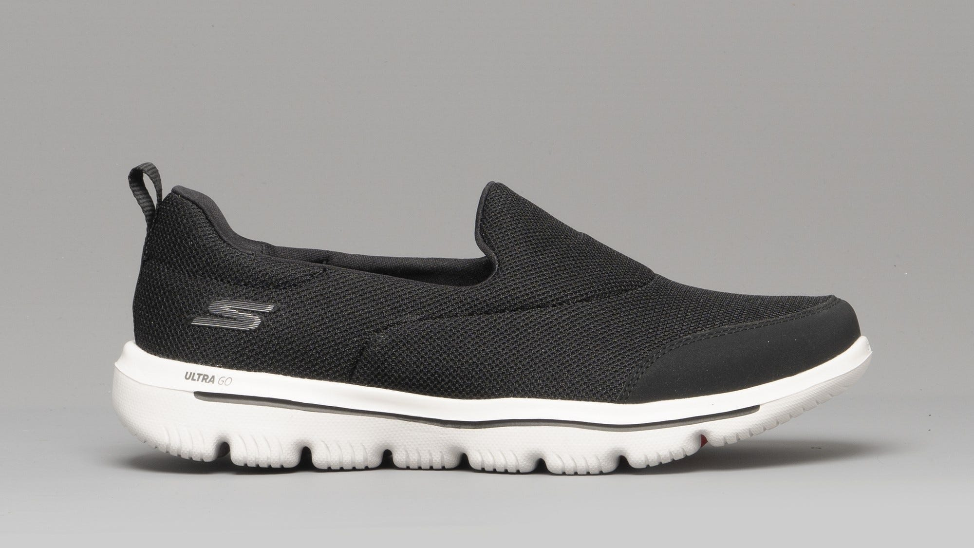 Skechers Go Walk Ultra shoe in black.