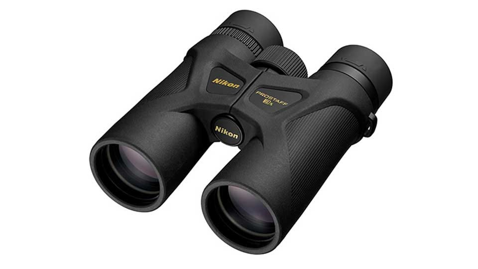 A pair of Nikon Prostaff binoculars.