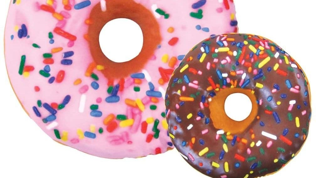 An image showing the color of both sides of the donut pillow.