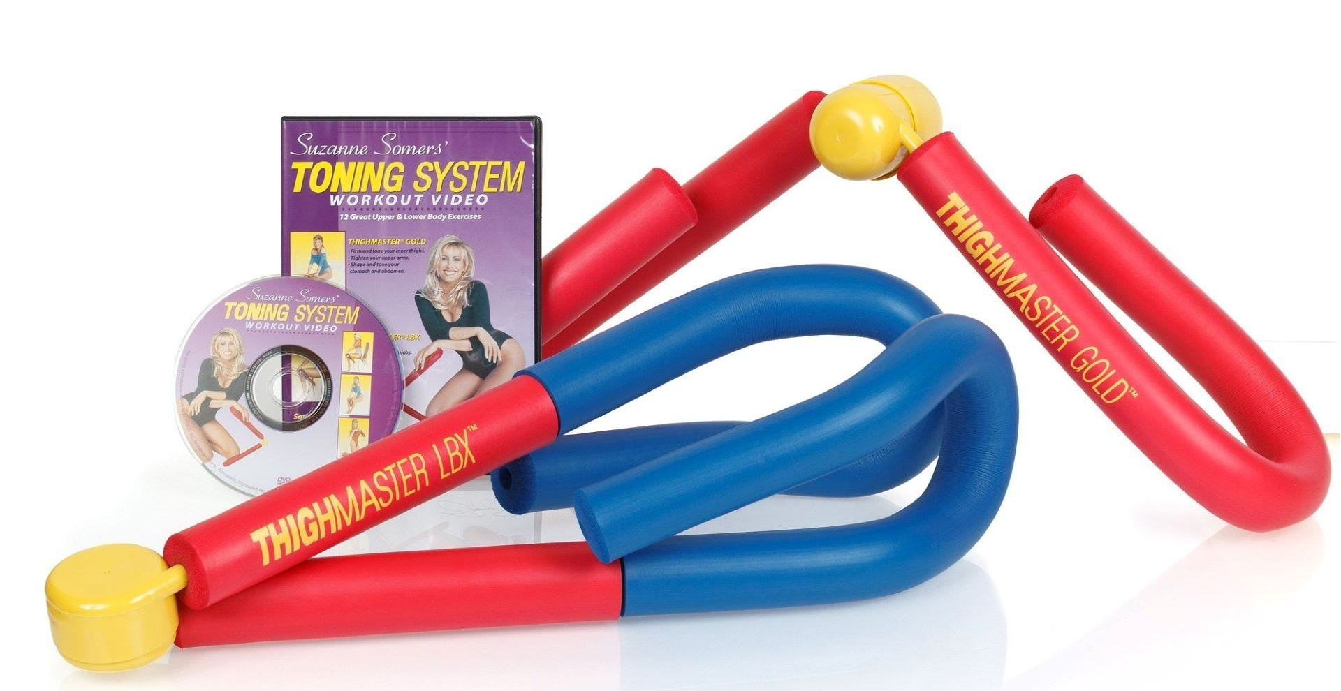 "The ThighmAster Gold, ButtMaster, and the ""Toning System Workout"" DVD."