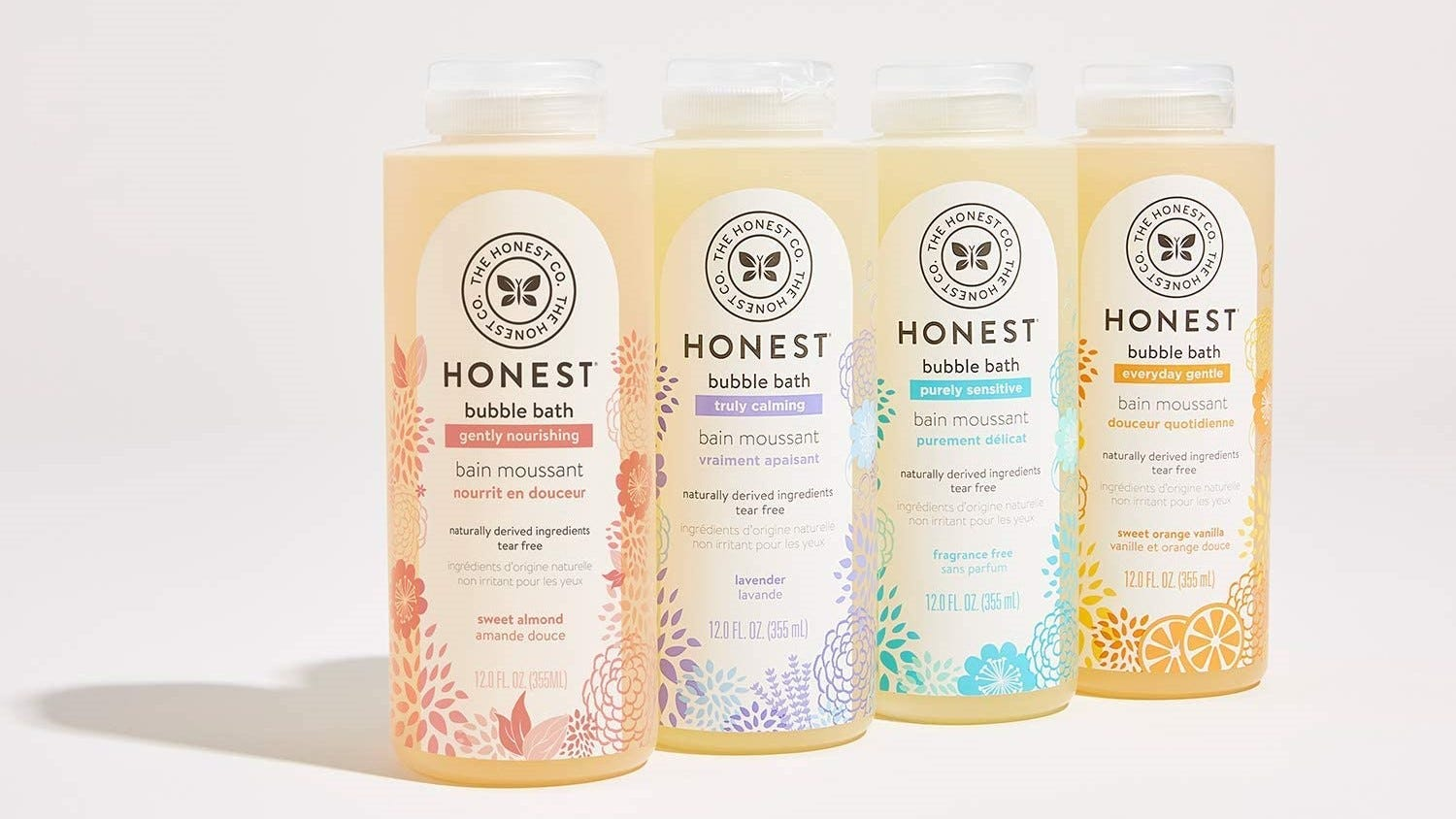 A variety of bubble baths from The Honest Co.