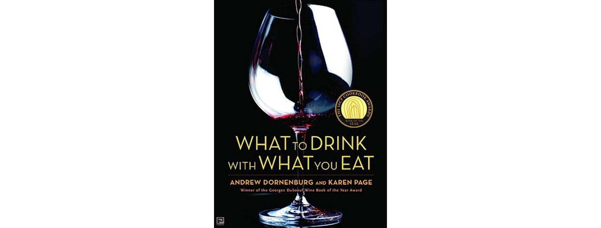 The cover of 'What to Drink with What You Eat.'