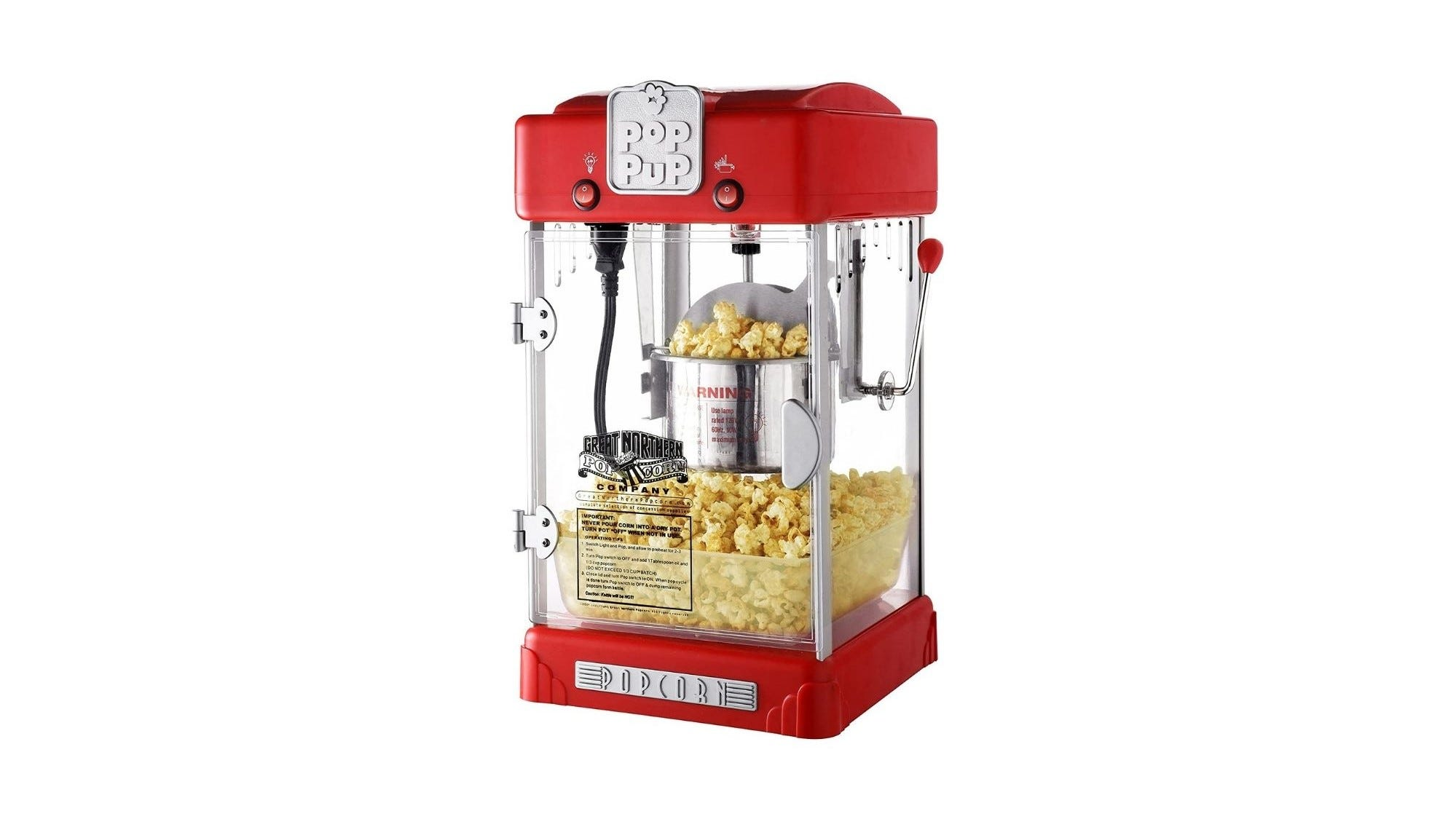 Theater-style popcorn maker.