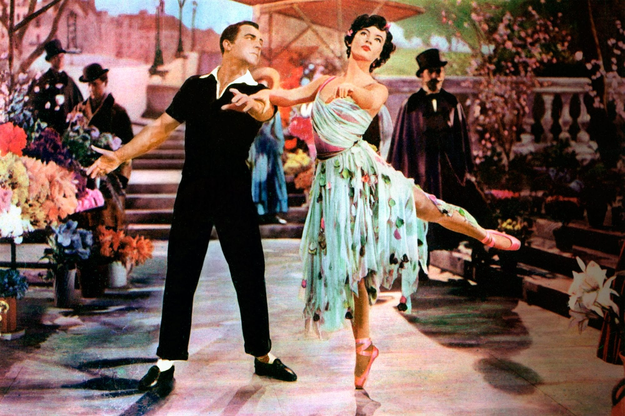 """A dancing scene from """"An American in Paris."""""""