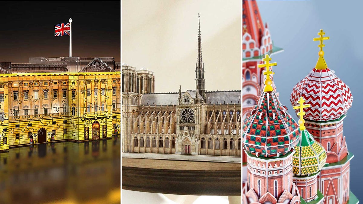 3D puzzles of various iconic landmarks.