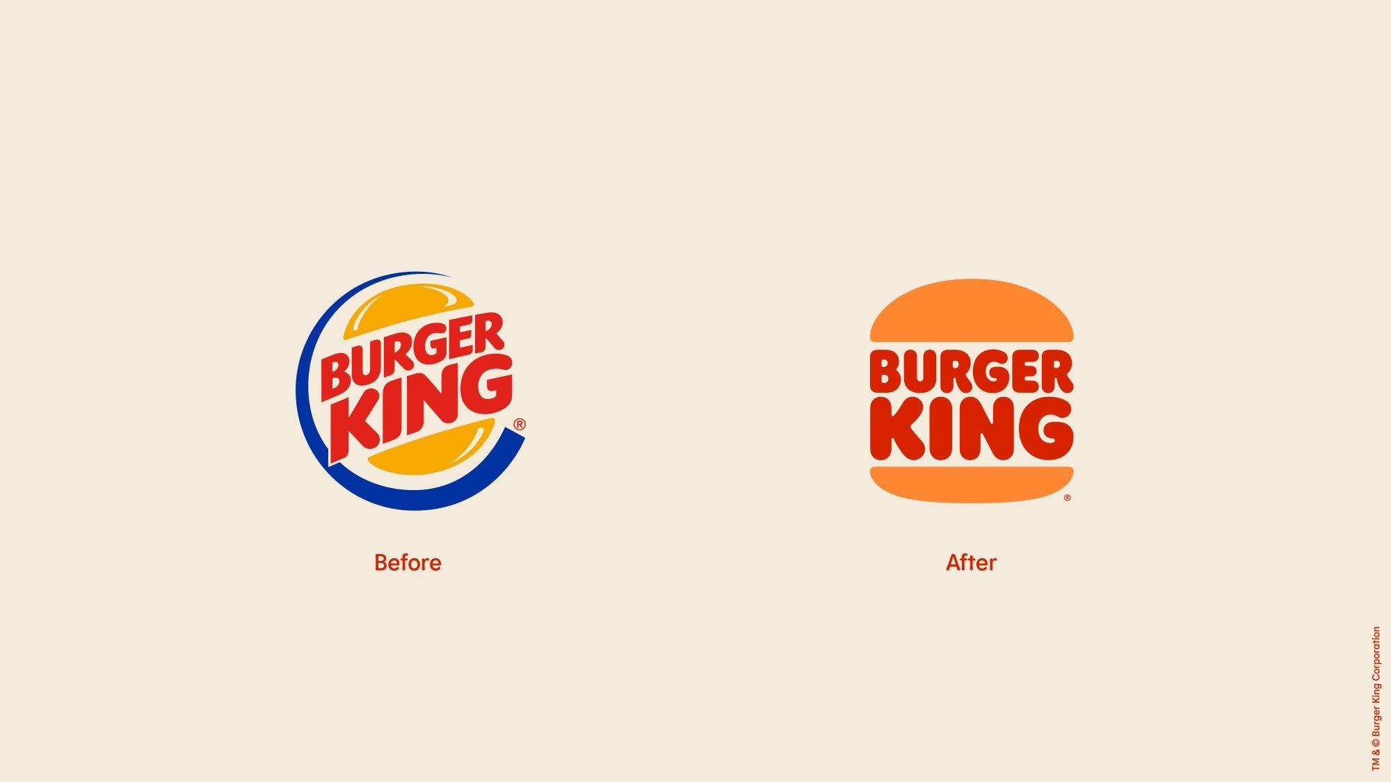 Burger King's logo change is the first in 20 years.