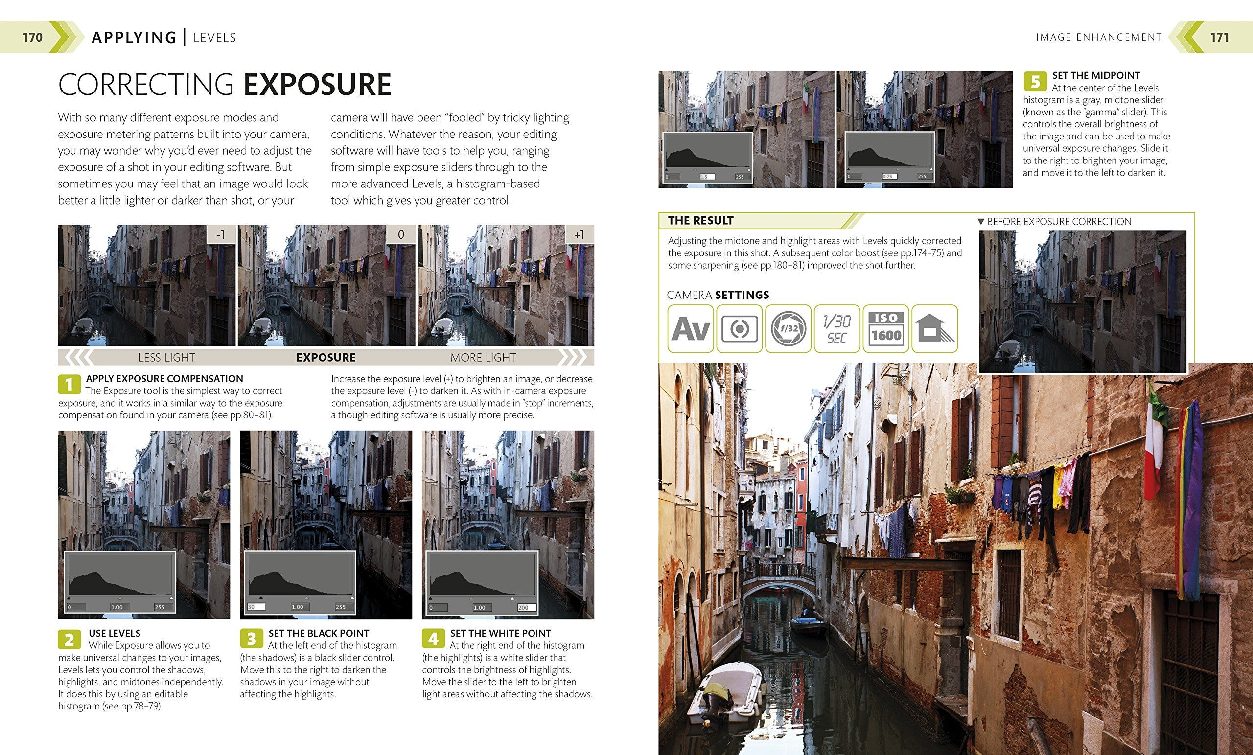 """The """"Correcting Exposure"""" instructions from the book """"The Beginner's Photography Guide."""""""