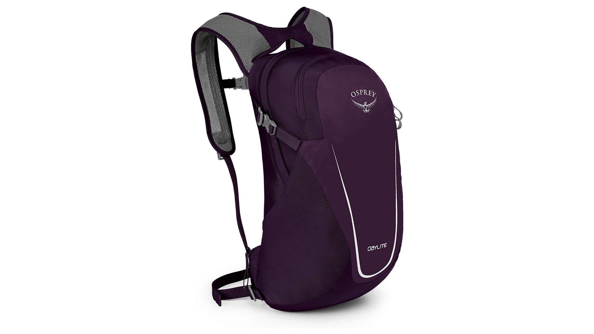 The purple Osprey Daylite backpack.