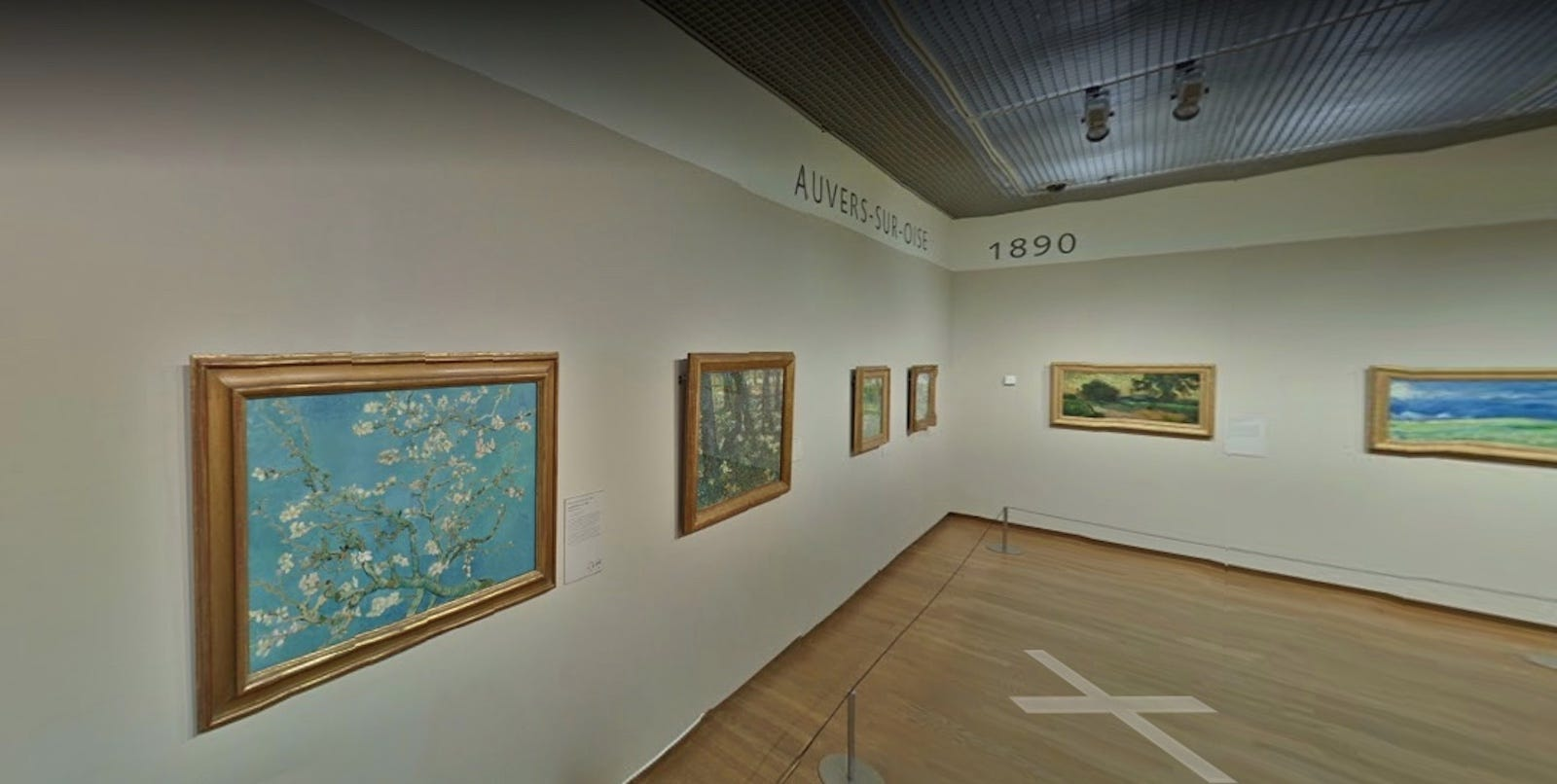 An art gallery at the Van Gogh Museum.