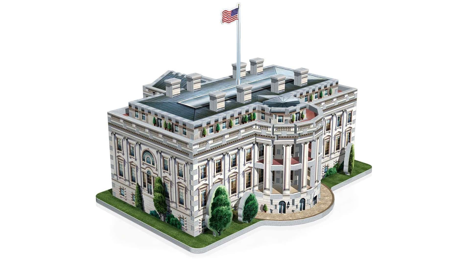 The completed White House 3D Puzzle.