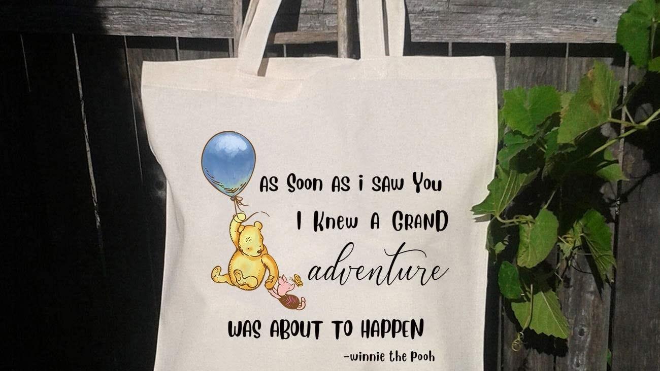 A reusable Winnie the Pooh tote bag.