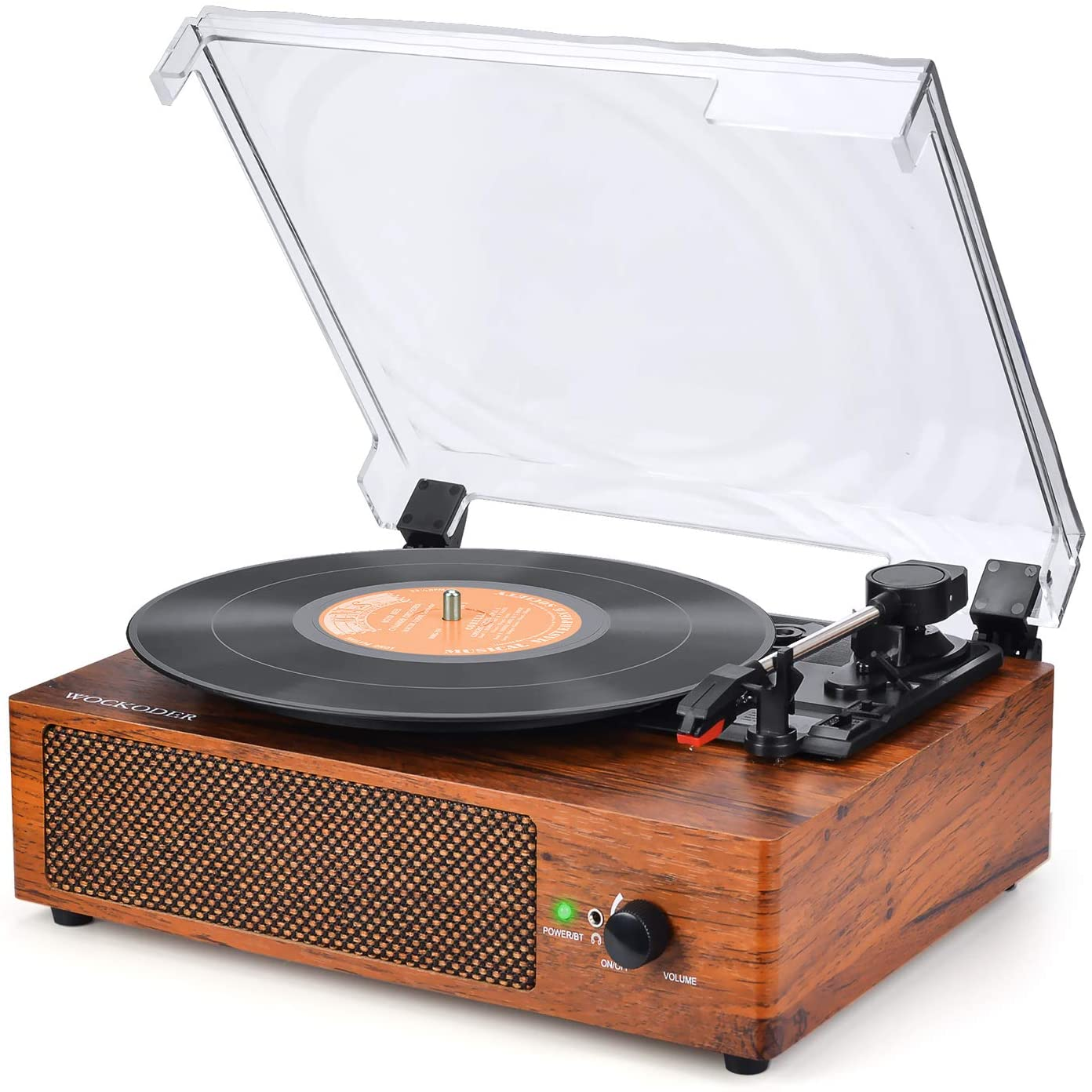 A record on the WOCKODER Turntable.