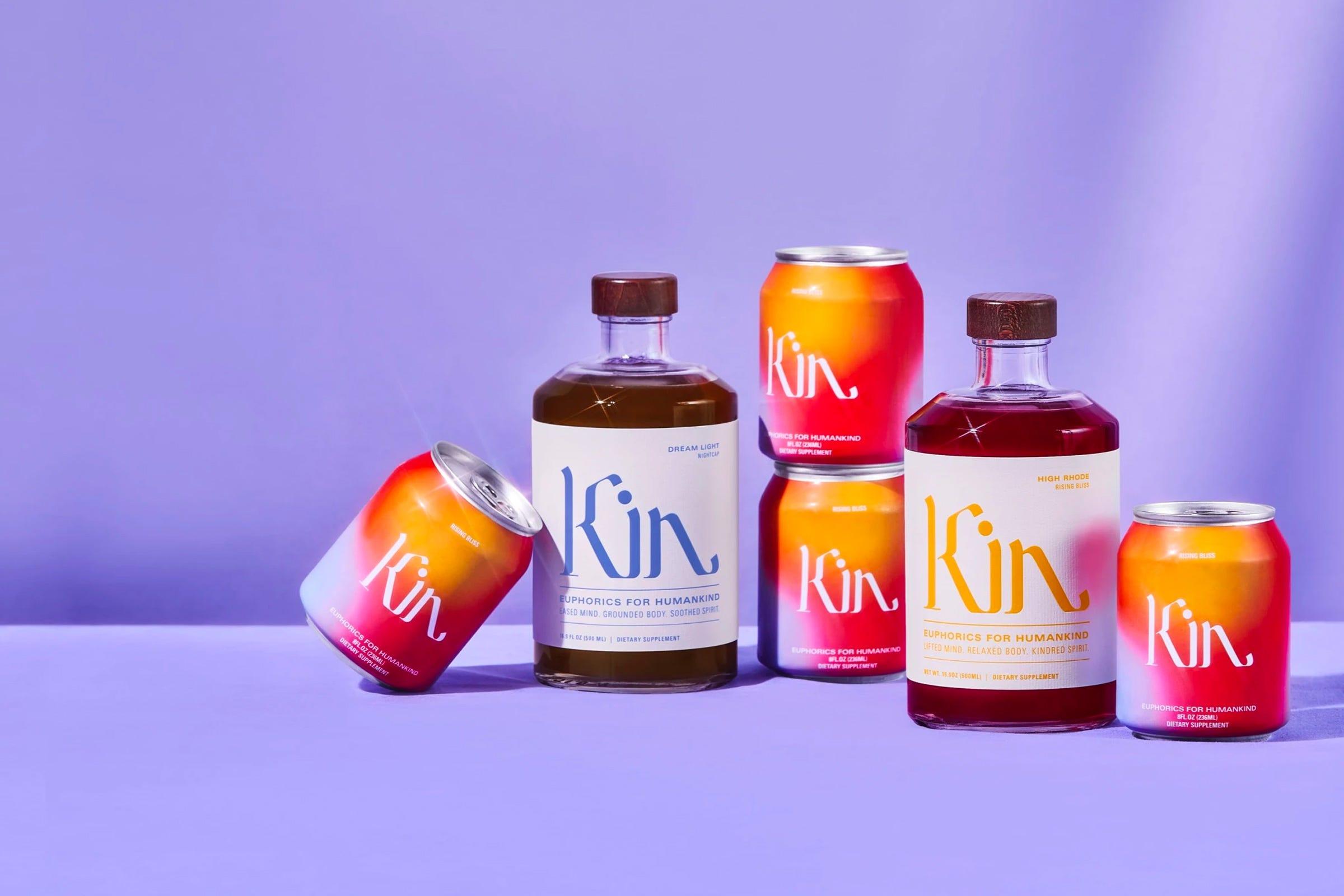 Kin Euphorics non-alcoholic carbonated drinks and spirits.