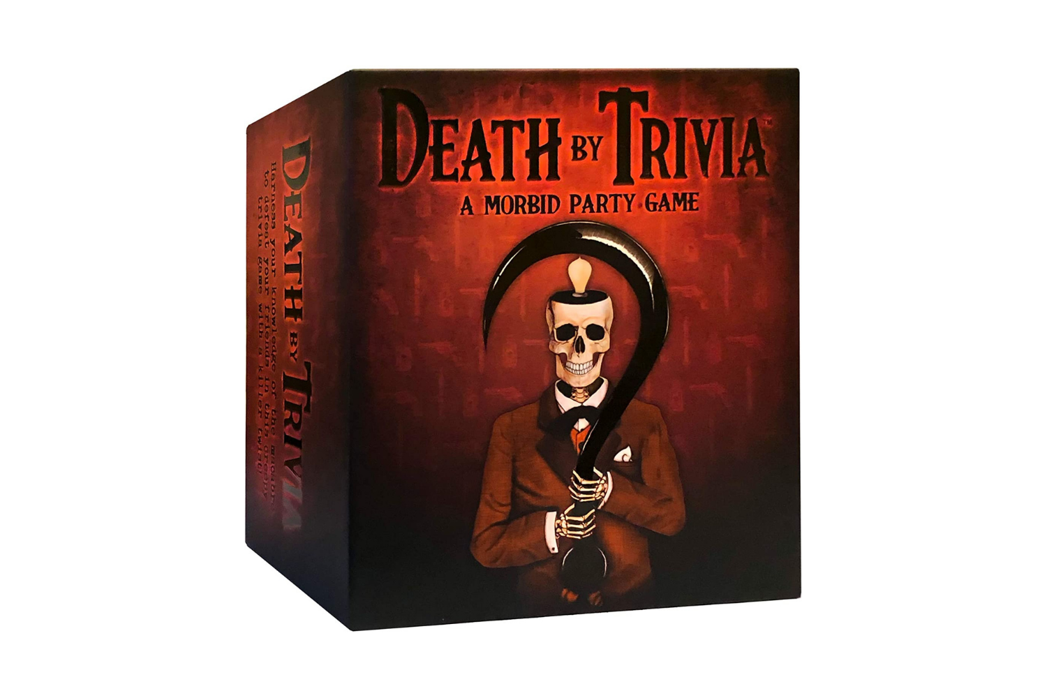 The Death By Trivia game box.