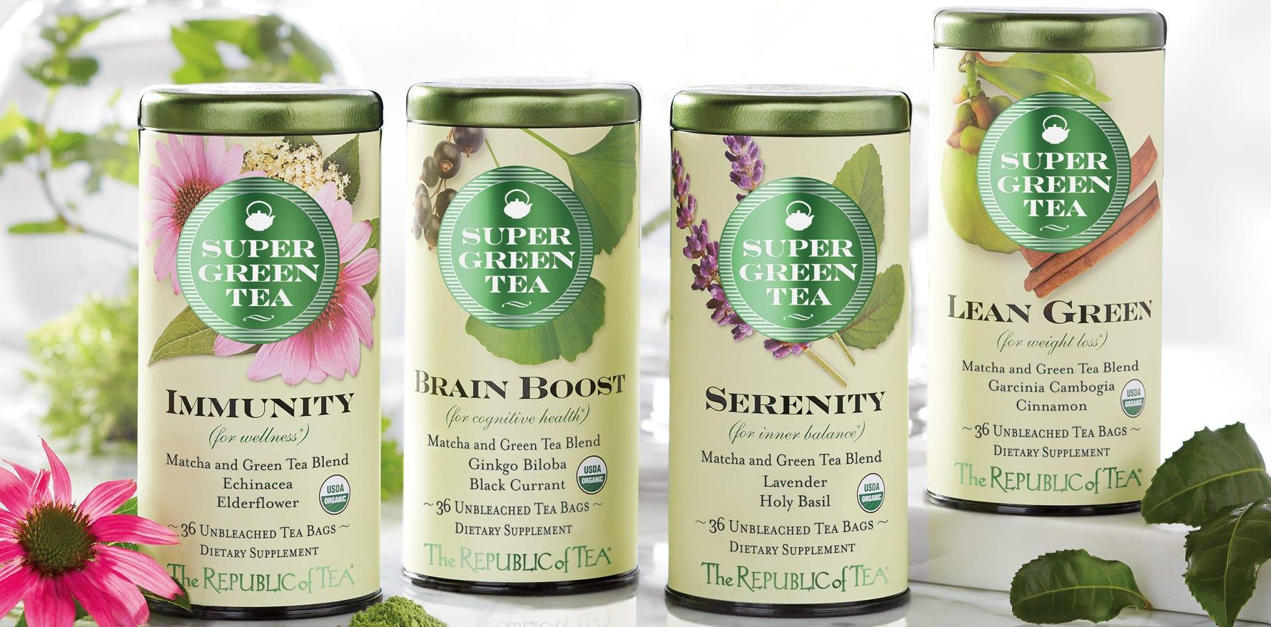 An assortment of teas from The Republic of Tea.