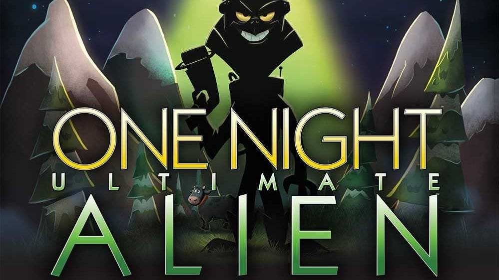 """The """"One Night Ultimate Alien"""" box cover."""