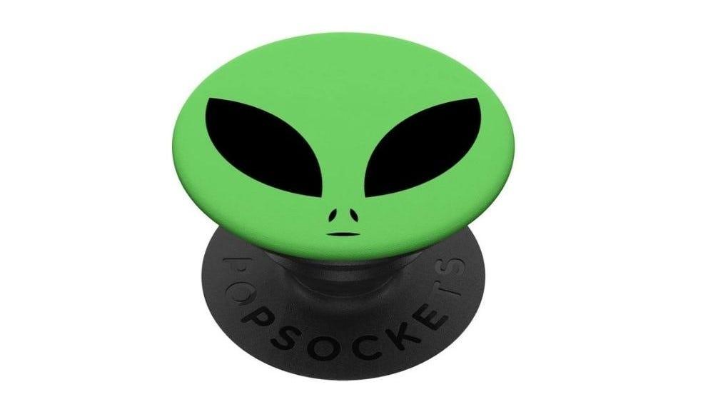 Green alien Popsocket.