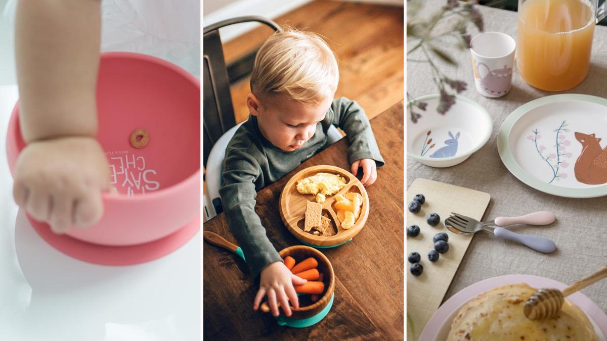 The Bella Tunno Say Mac and Cheese bowl, the Avanchy Bamboo Bowl and Spoon Set, and the Scandibørn Sebra Set.