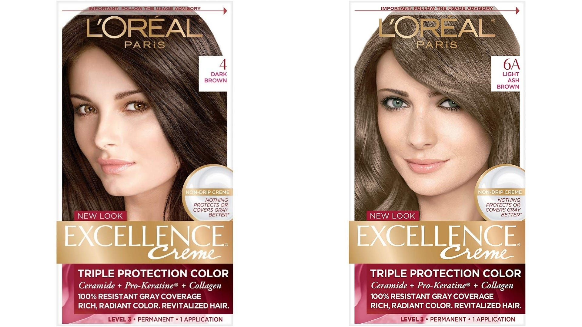 Two boxes of L'Oreal hair dye