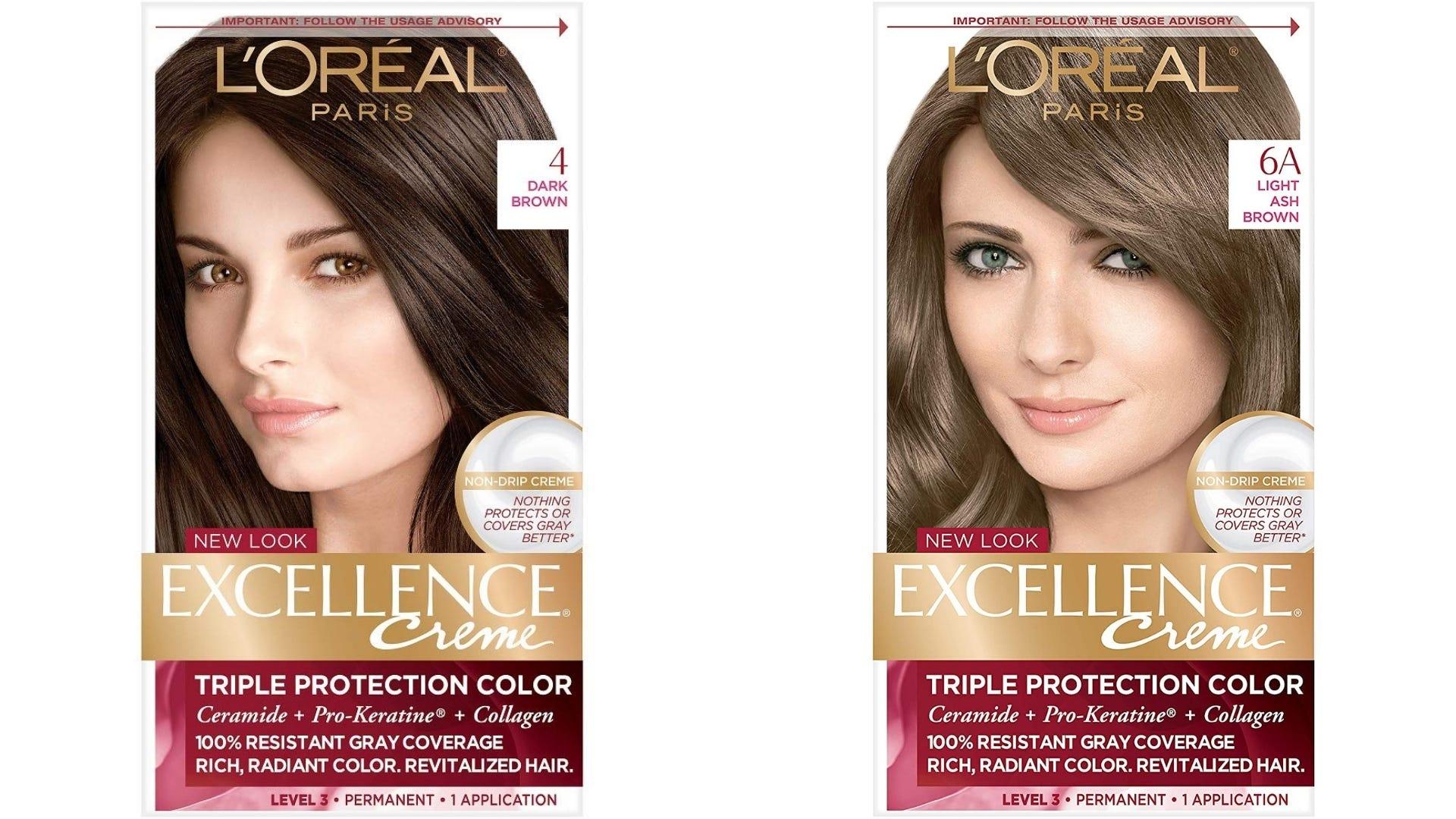 Two boxes of L'Oreal hair dye