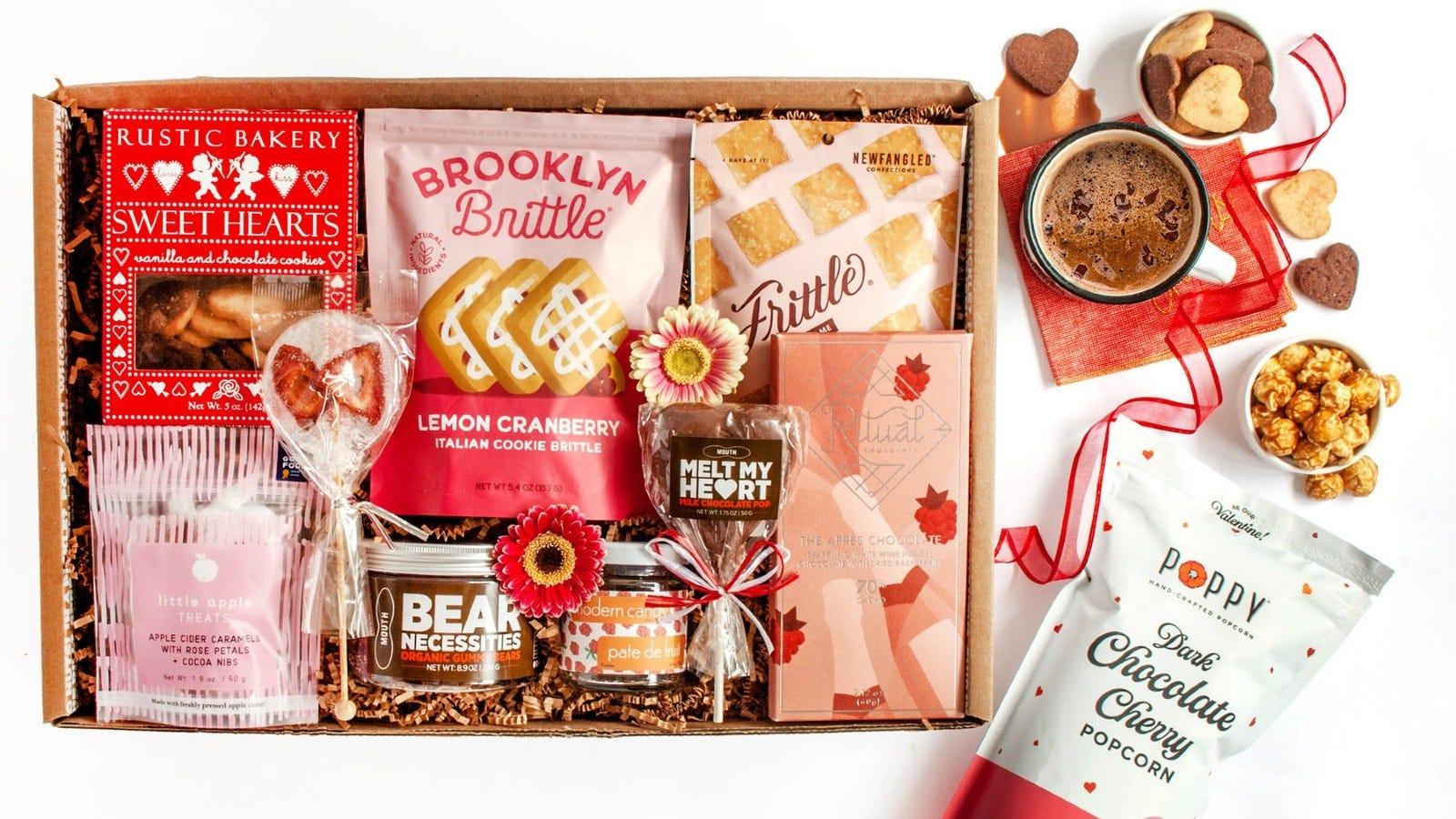 box of assorted snacks