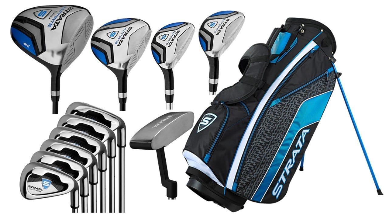 The Callaway Strata golf club set with bag.