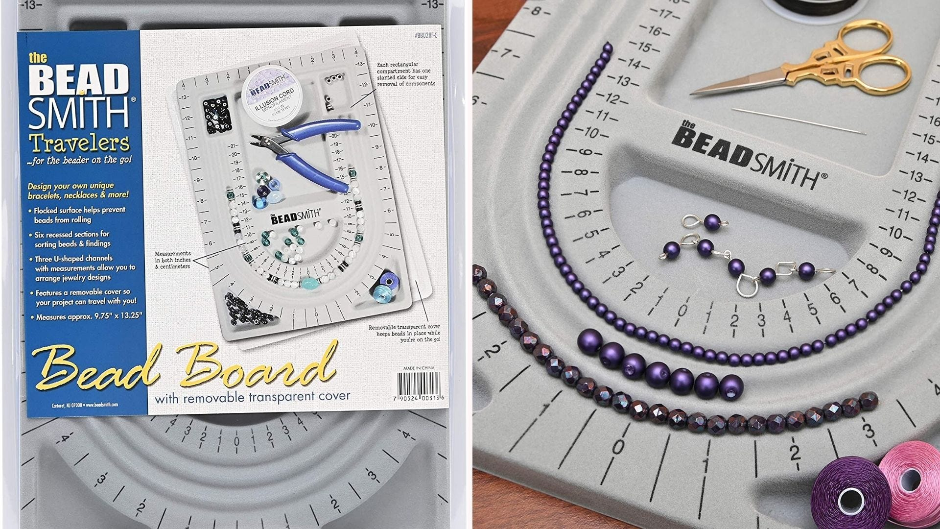 Beading board for easier jewelry making.