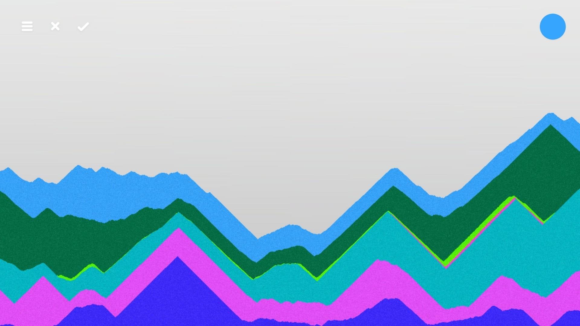 Multi-colored digital sand hills