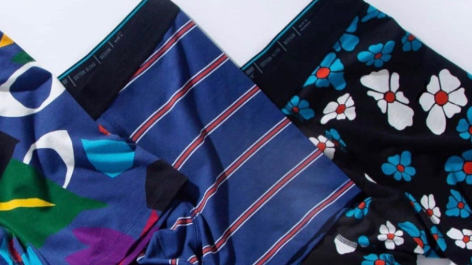 Three pairs of Stance boxer briefs.