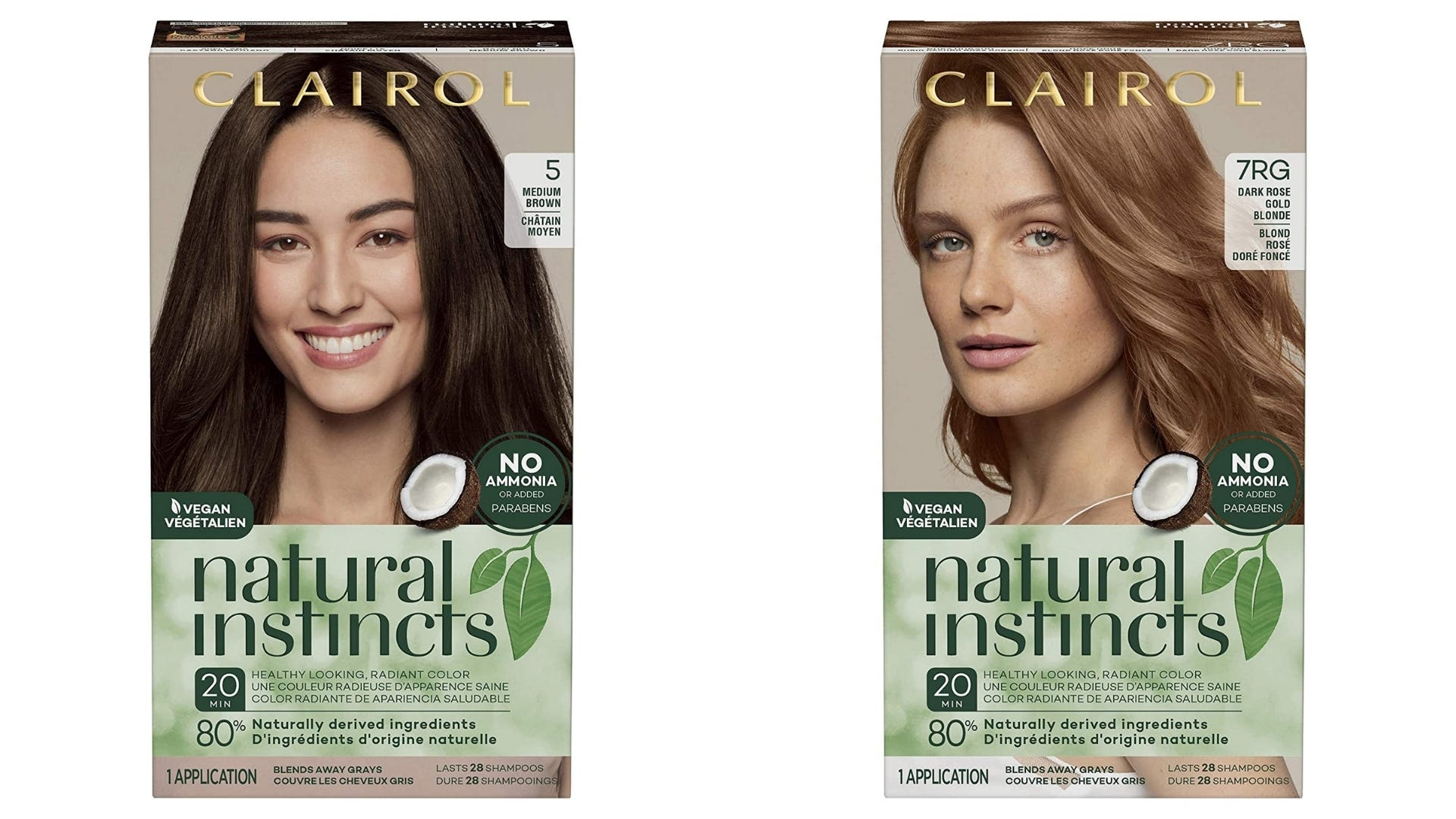 Two boxes of Clairol hair dye