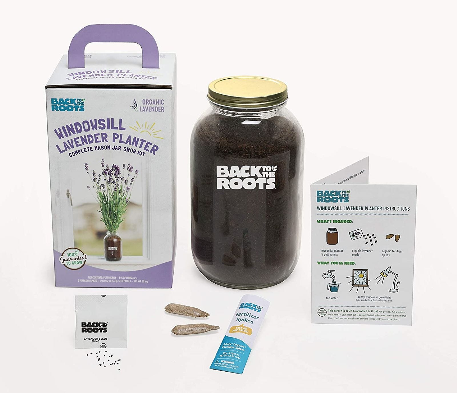 The Back to the Roots Lavender Kit.