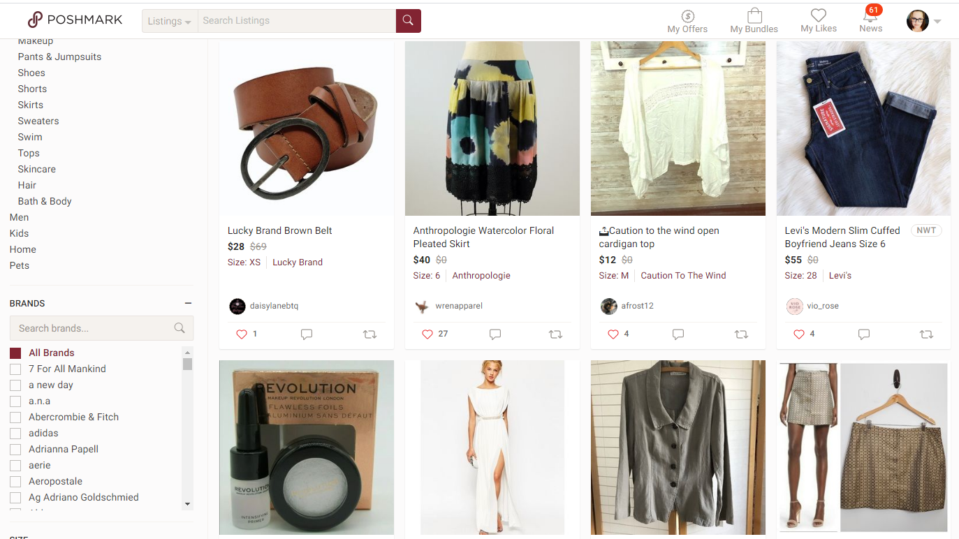 Ladies clothing and accessories for sale on Poshmark.