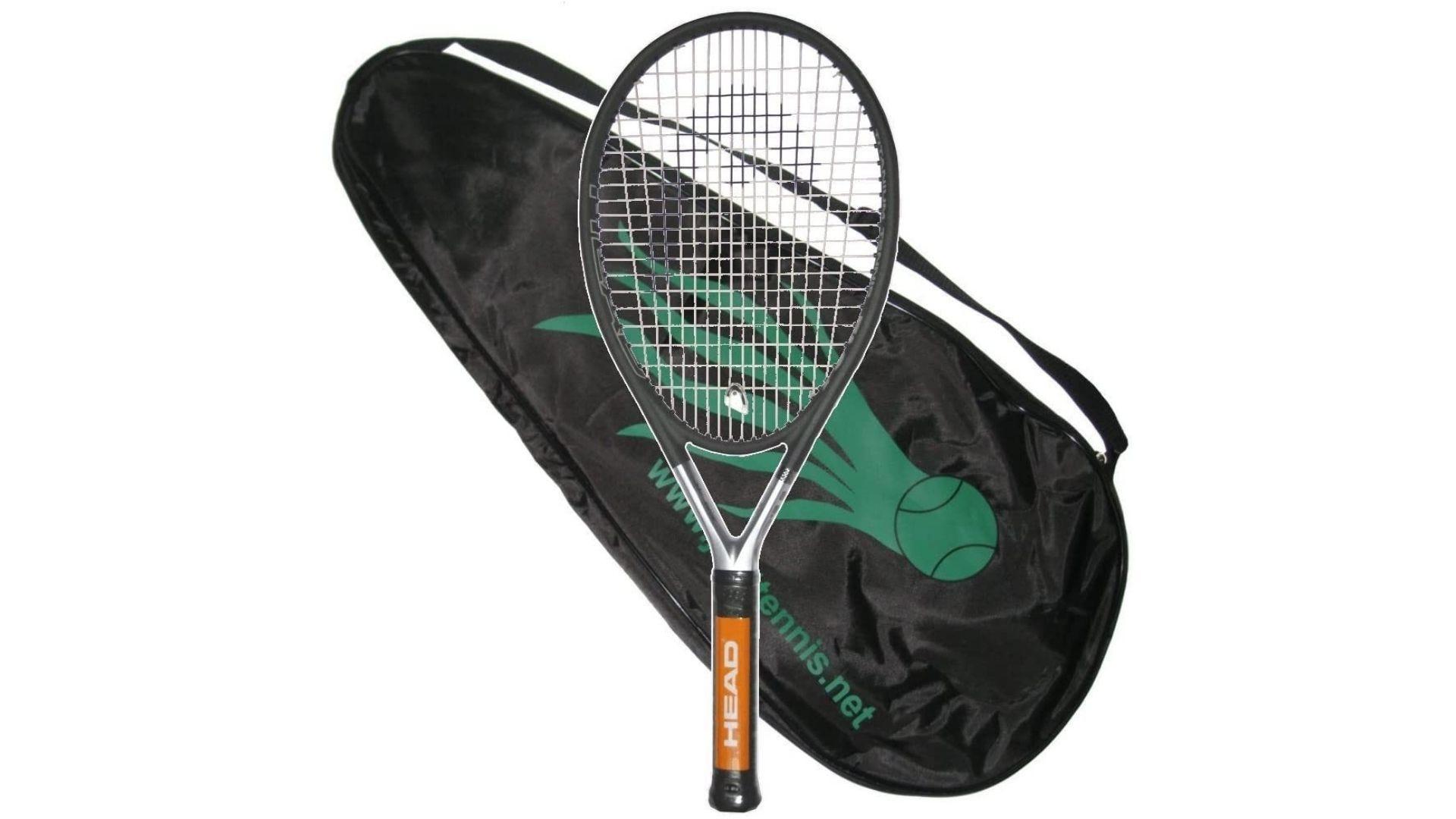 The HEAD Ti.S6 tennis racquet and bag.