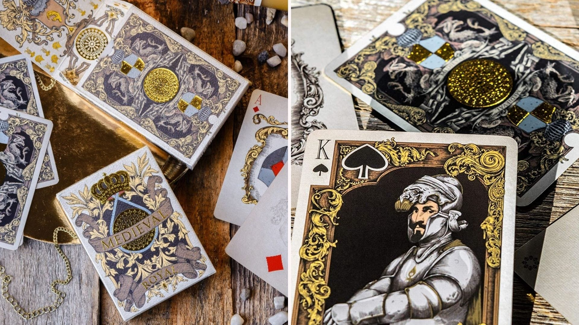 The Medieval Royal playing cards deck.