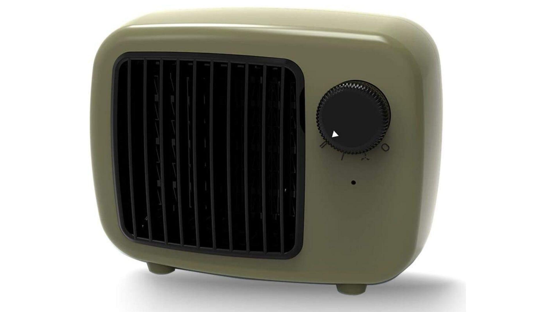 Cute green space heater.