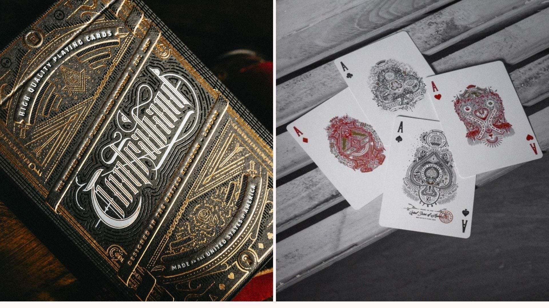 Theory11's Contraband playing cards box and cards.
