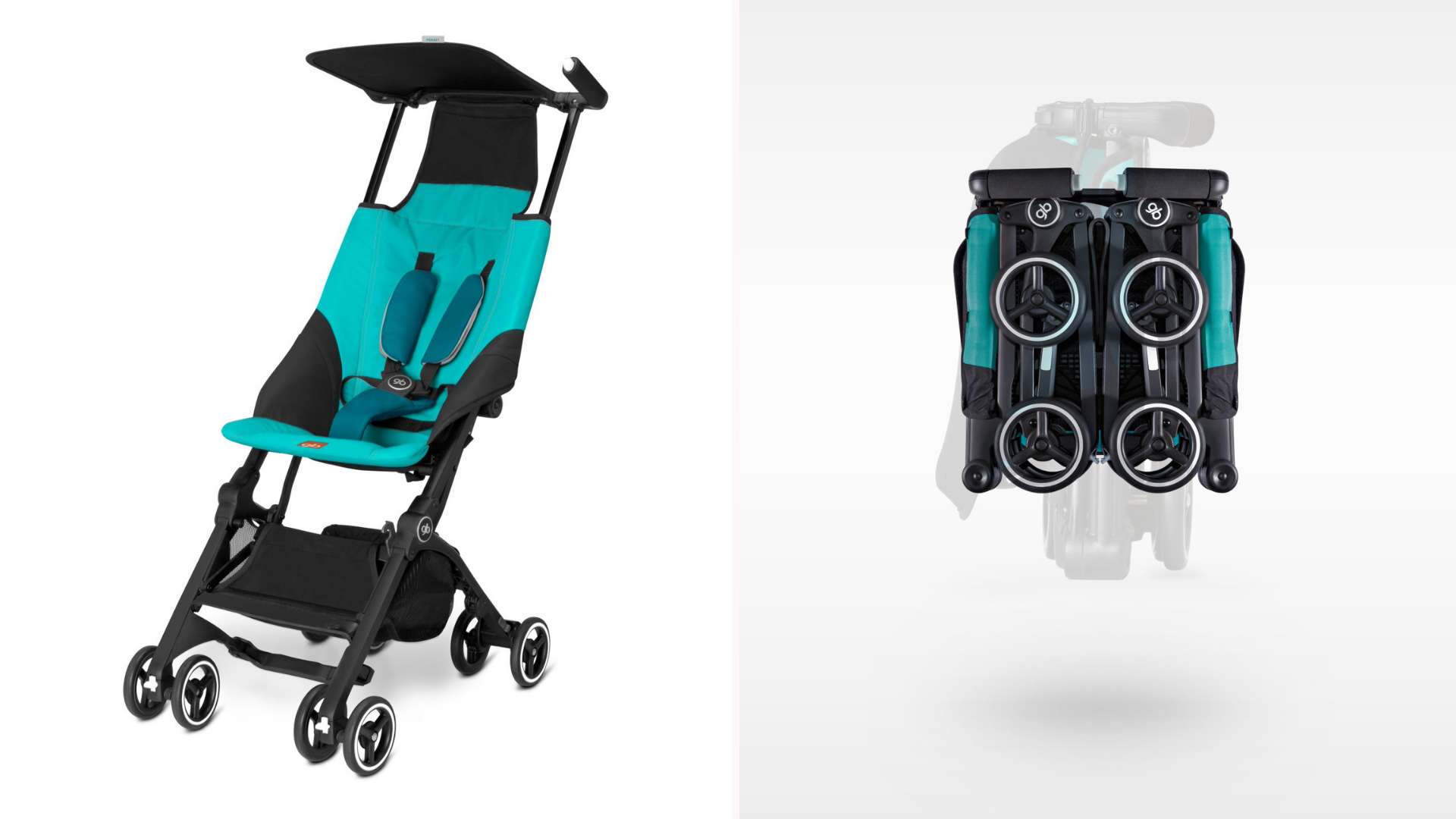A Gb Pockit stroller in use.