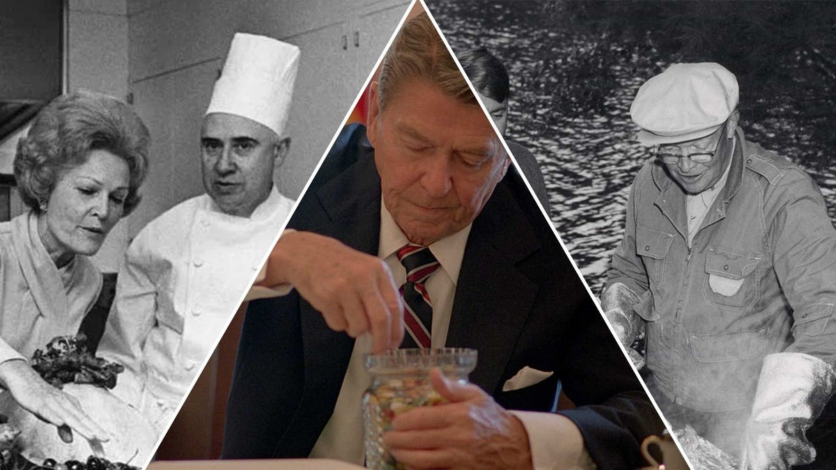 Various photos depicting food and snacks around the White House.
