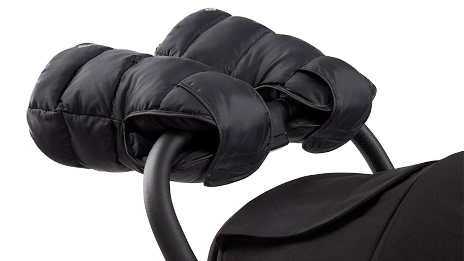 black stroller mittens