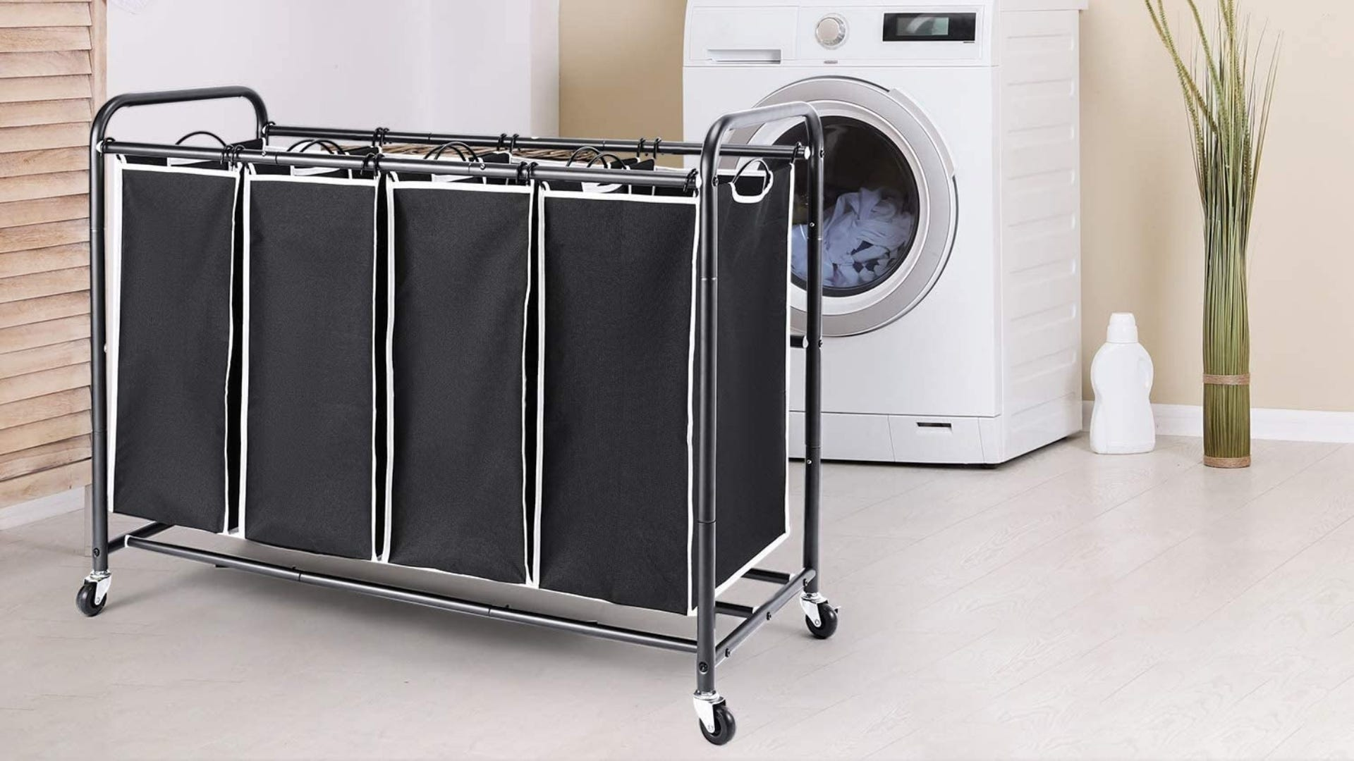 Four section laundry basket.