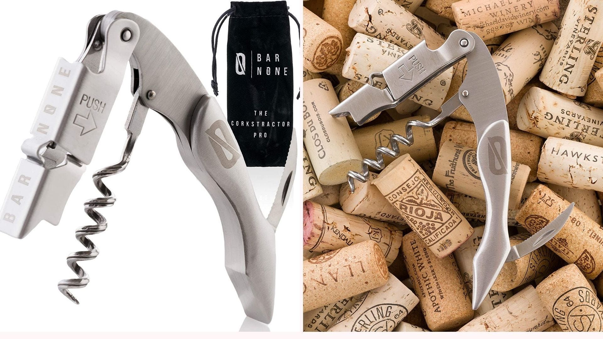 Wine key and corkscrews.