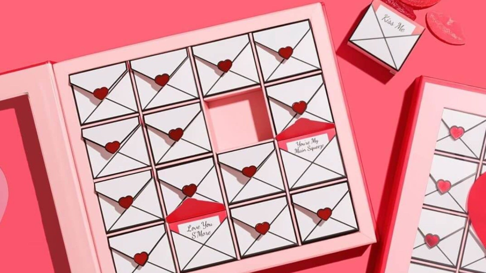 box of love letter candies