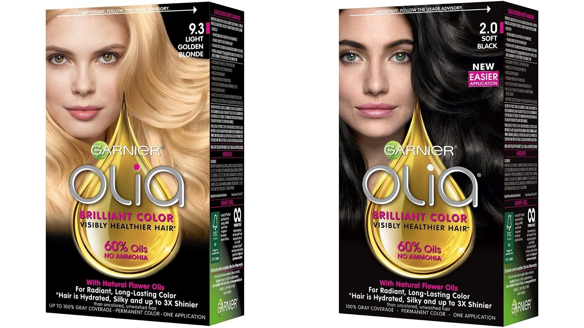 Two boxes of Garnier hair dye