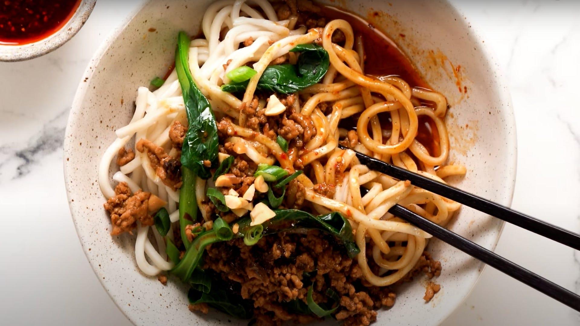 bowl of Dan Dan noodles
