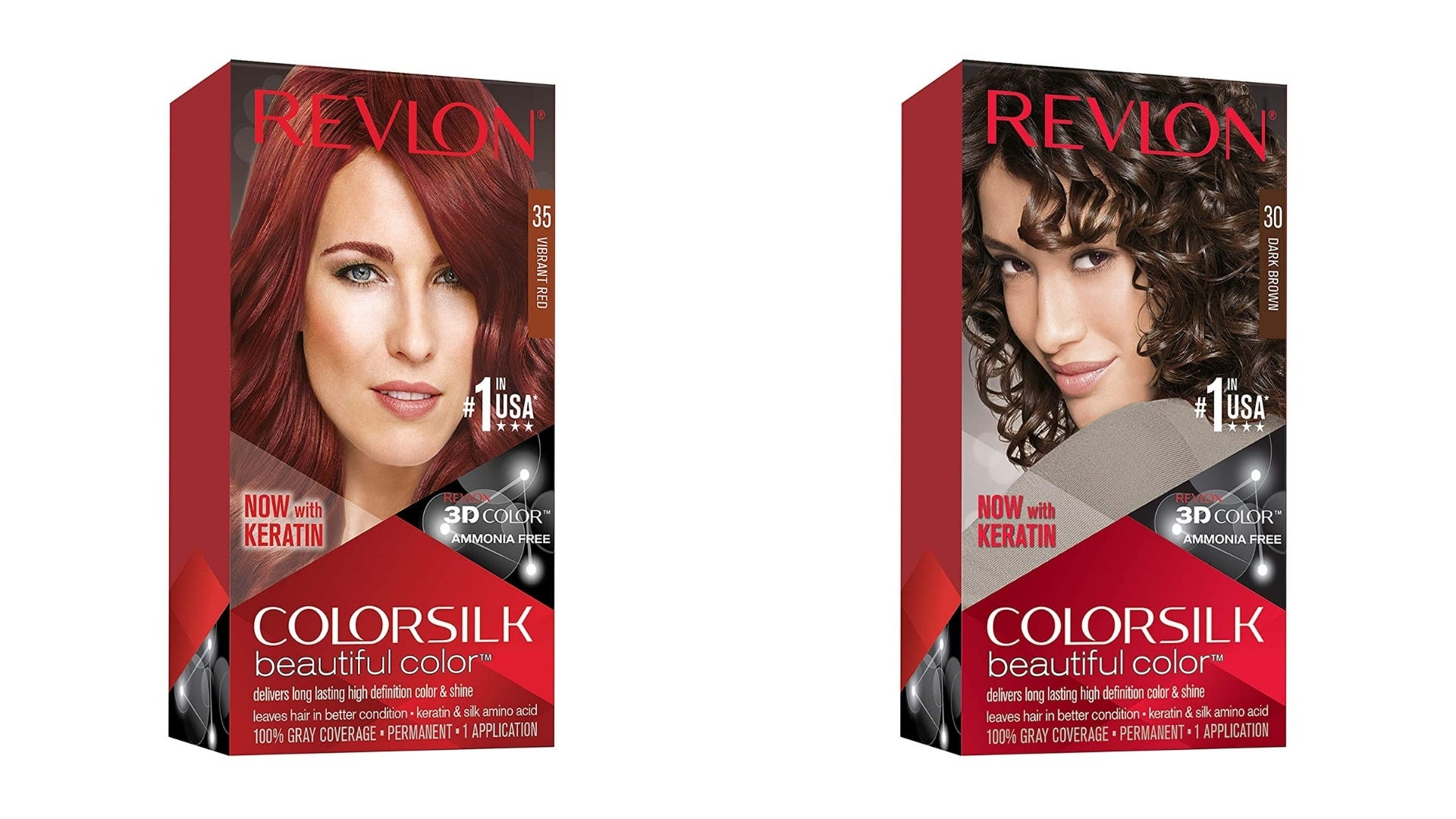 Two boxes of Revlon hair dye